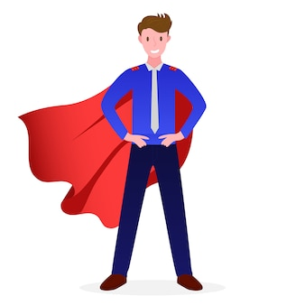Ilustração de um negócio de super empreendedor