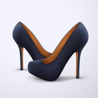 Ilustração de um par de sapatos femininos realistas