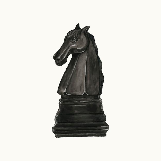 Ilustração, de, um, pedaço xadrez