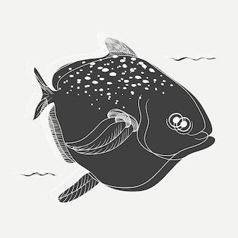 Ilustração, de, um, peixe