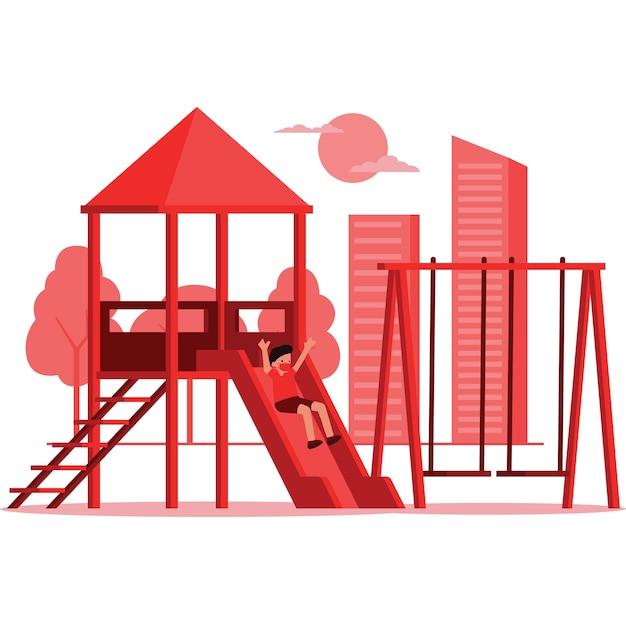 Ilustração de um playground