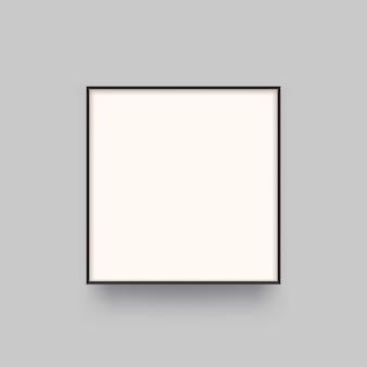 Ilustração de um quadrado de luz de vista frontal realista