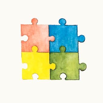 Ilustração, de, um, quebra-cabeça