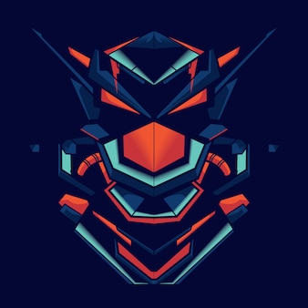 Ilustração, de, um, robô, lutador