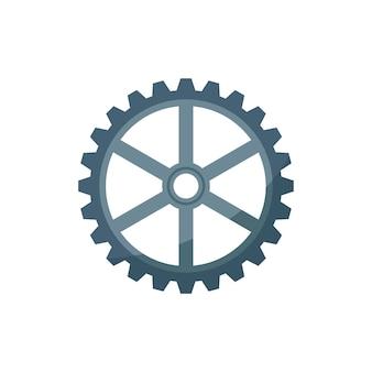 Ilustração, de, um, roda dentada