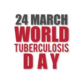 Ilustração de um texto à moda para o dia mundial da tuberculose