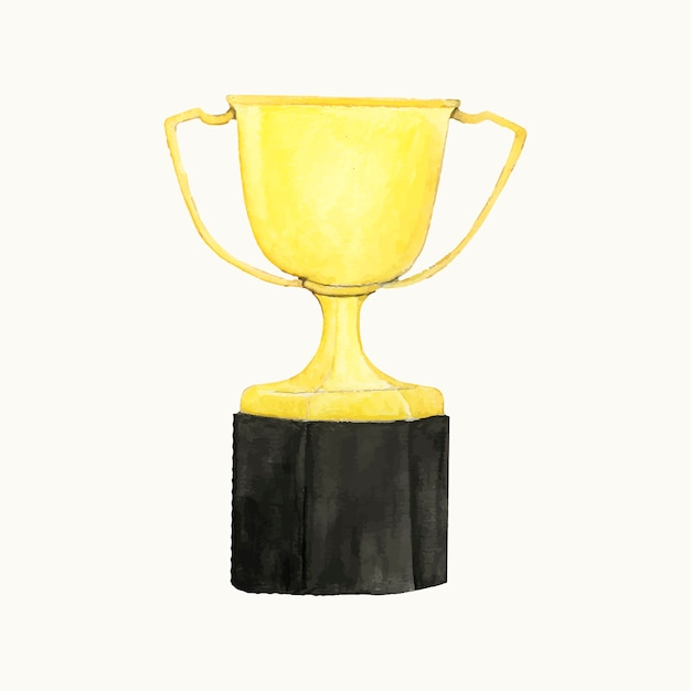 Ilustração, de, um, troféu ouro