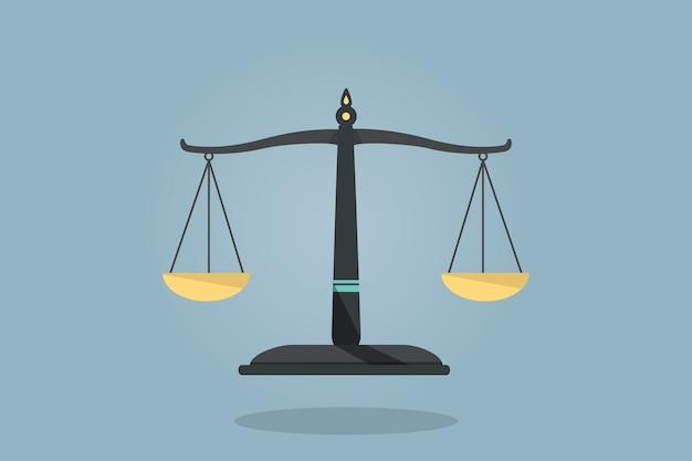Ilustração de uma balança
