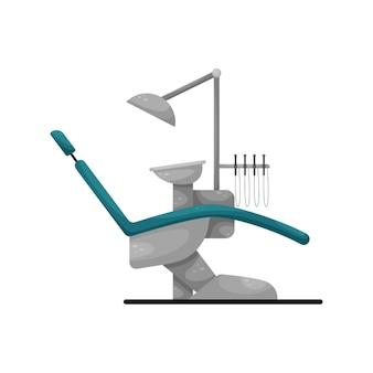Ilustração de uma cadeira odontológica isolada