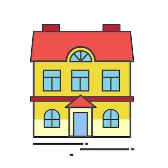 Ilustração de uma casa bonita