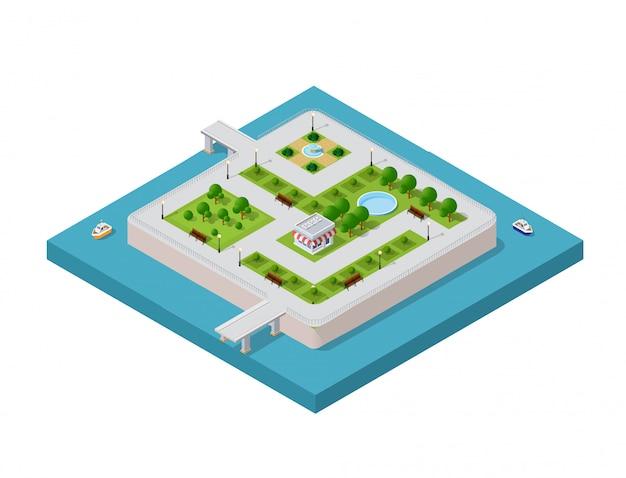 Ilustração de uma cidade moderna