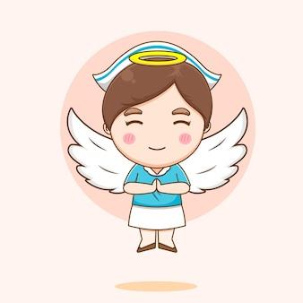 Ilustração de uma enfermeira fofa como um anjo