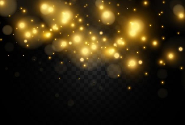 Ilustração de uma estrela linda e brilhante de um efeito de luz