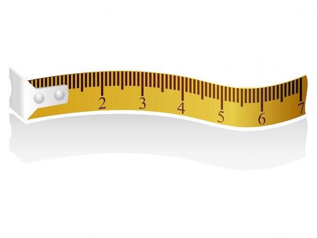 Ilustração de uma fita métrica