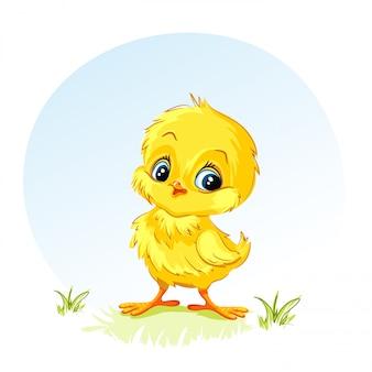 Ilustração de uma galinha jovem