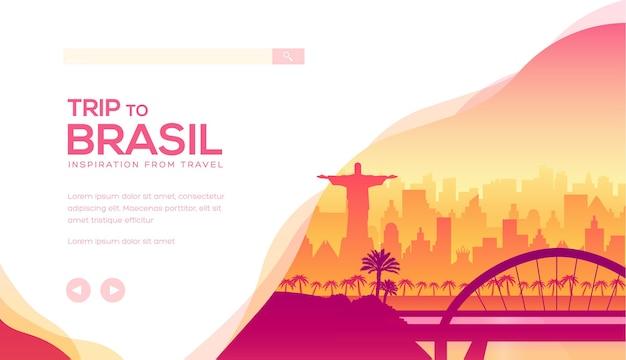 Ilustração de uma viagem à américa latina