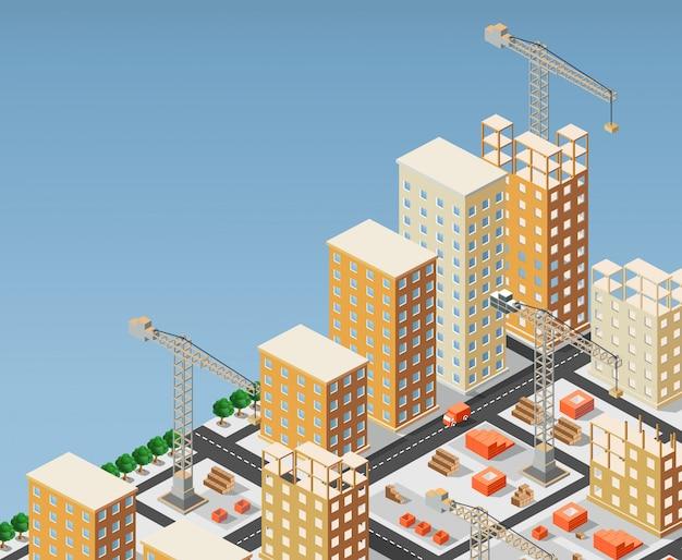 Ilustração, de, urbano, construção