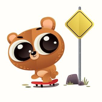 Ilustração de urso bebê fofo