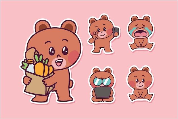 Ilustração de urso de desenho animado