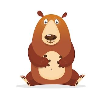 Ilustração de urso dos desenhos animados