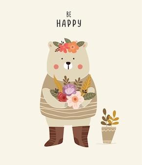 Ilustração de urso fofo