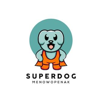 Ilustração de urso super fofo estilo desenho animado