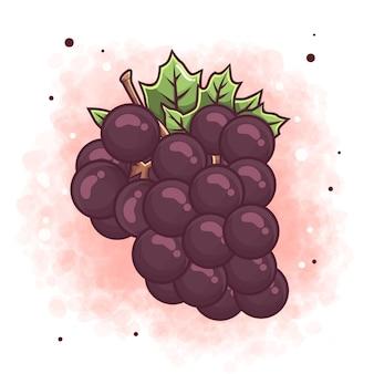 Ilustração de uvas desenhadas à mão