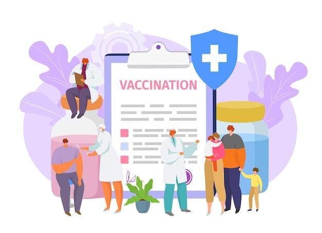 Ilustração de vacina médica para proteção contra vírus-doença