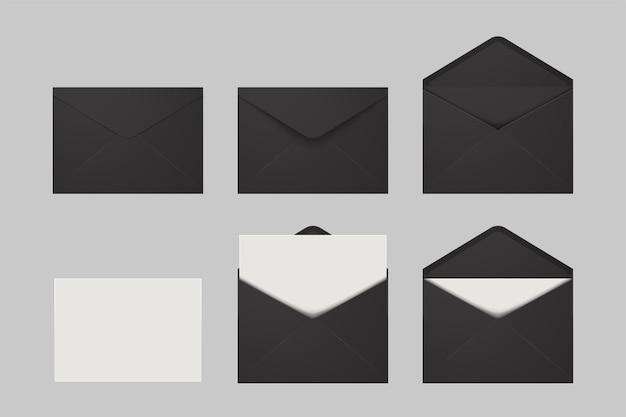 Ilustração de várias condições de correio isolado