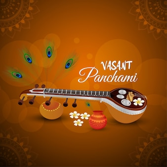 Ilustração de vasant panchami
