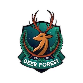 Ilustração de veado floresta, fundo branco