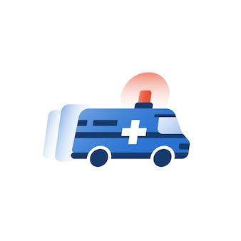Ilustração de veículo ambulância