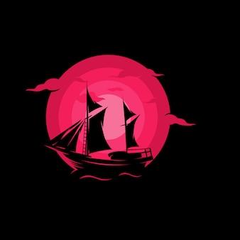 Ilustração de veleiro