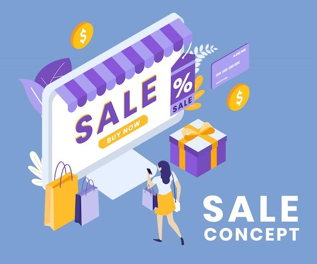 Ilustração de venda comercial