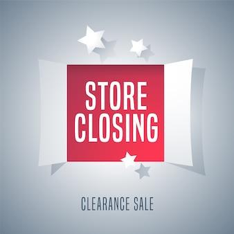 Ilustração de venda de fechamento de loja, plano de fundo