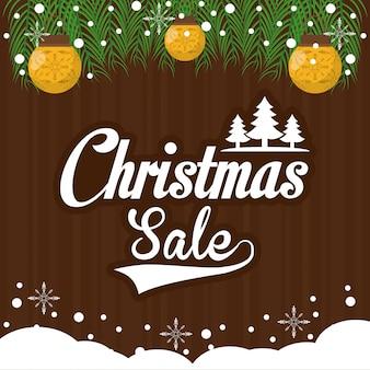 Ilustração de venda de natal