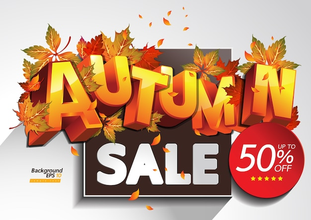 Ilustração de venda de outono