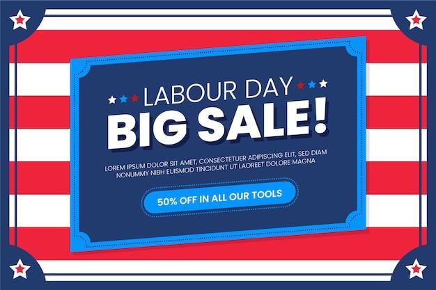Ilustração de venda do dia do trabalho