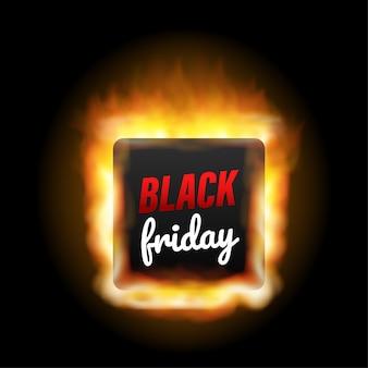 Ilustração de vendas da black friday