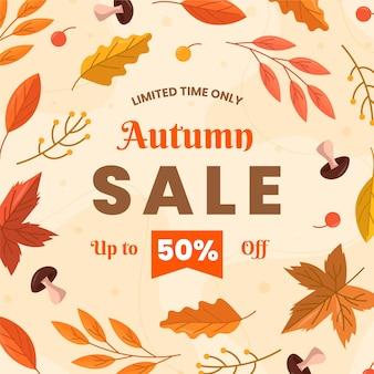 Ilustração de vendas outono design plano