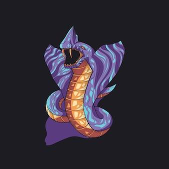Ilustração de veneno de cobra