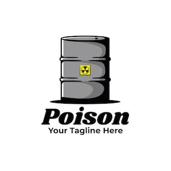 Ilustração de veneno de tambor de óleo