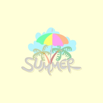 Ilustração de verão bonito