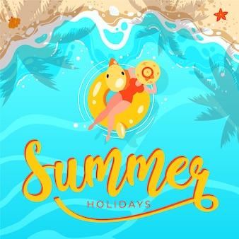 Ilustração de verão desenhada à mão Vetor grátis