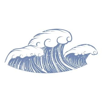 Ilustração de verão e objeto de praia