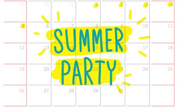 Ilustração, de, verão, feriado