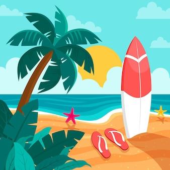 Ilustração de verão plano
