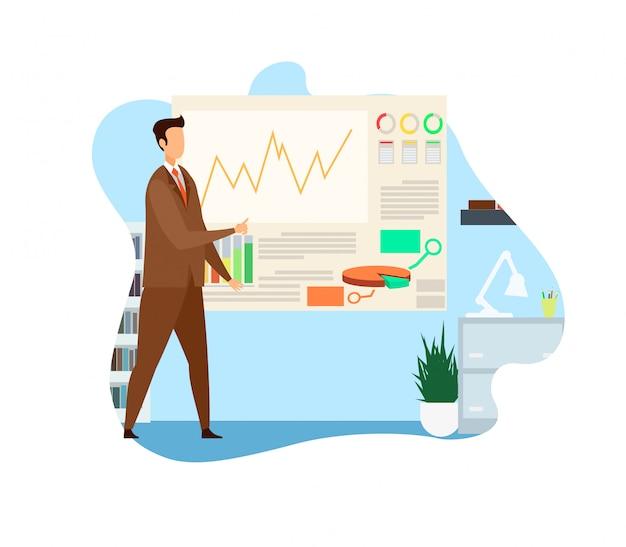 Ilustração de vetor de análise de estratégia de negócios