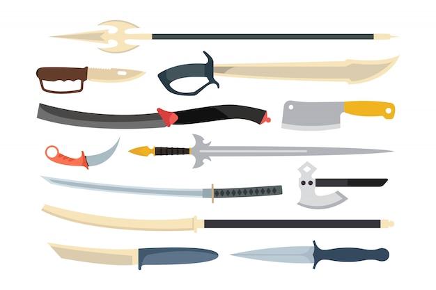 Ilustração de vetor de arma de facas.