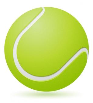 Ilustração de vetor de bola de tênis